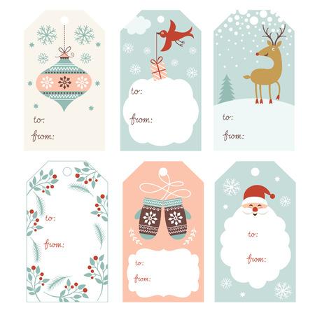 Christmas gift tags Illustration