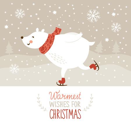 Weißer Bär Skate Standard-Bild - 24157995