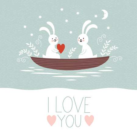 te amo: Día de la boda o la tarjeta de San Valentín s Vectores