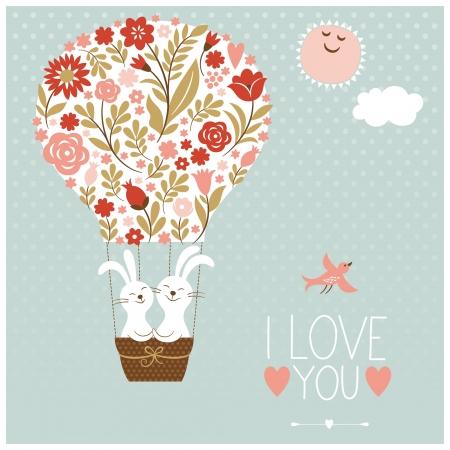 Día de la boda o la tarjeta de San Valentín s