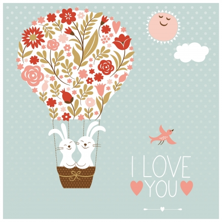 Valentine s day or wedding card Vector