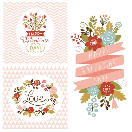 borde de flores: Valentine s day cards 1054; 1087; 1080; 1089; 1072; 1085; 1080; 1077; tarjetas d�a de San Valent�n s Vectores