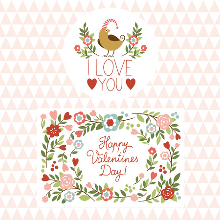 Valentine s day graphic elements, valentine card Vector