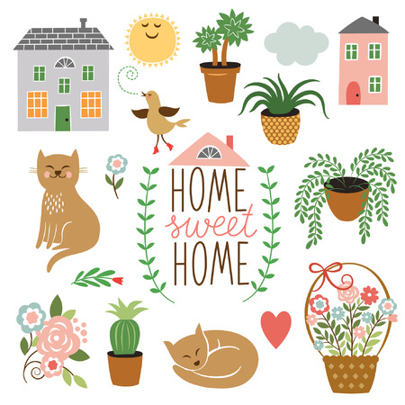 home clipart: Home Sweet Home