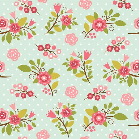 아름다움 원활한 플로랄 패턴