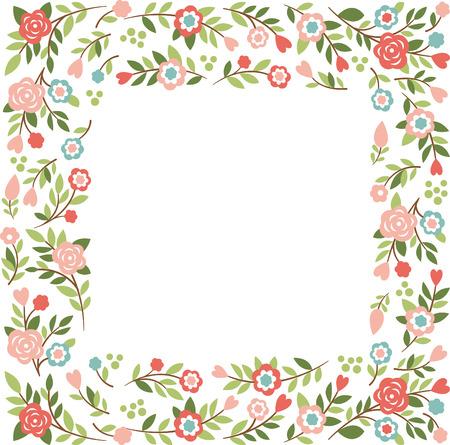 Cornice floreale con posto per il vostro testo Archivio Fotografico - 27532571