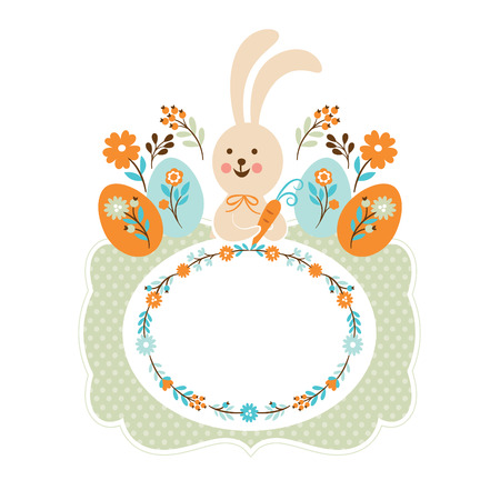 Easter bunny, easter card Vector