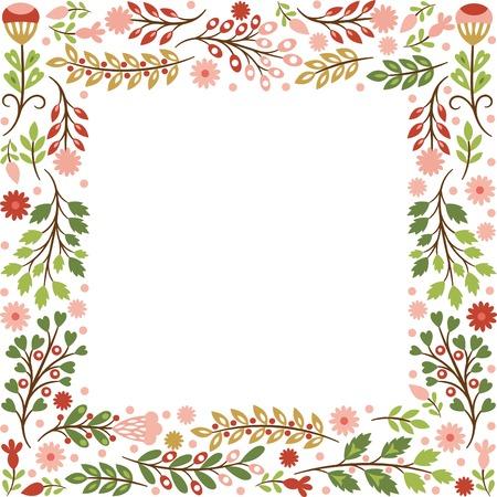 Cornice floreale con posto per il testo Archivio Fotografico - 27789438