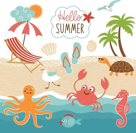 helados caricatura: Im�genes verano fijaron Vectores