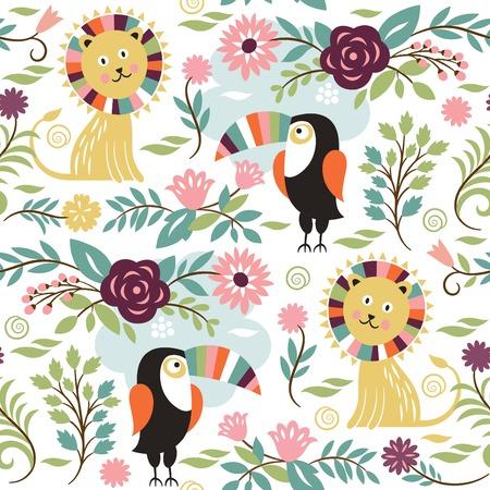 원활한 꽃 패턴 스톡 콘텐츠 - 29863071