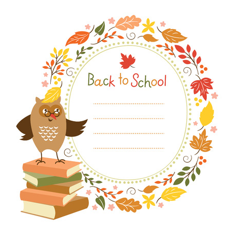 Back to school background, vector illustration Vector
