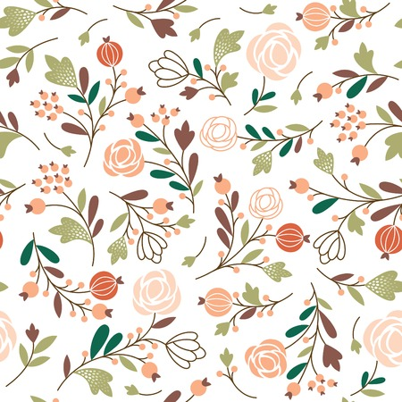 beauty seamless floral pattern Vector