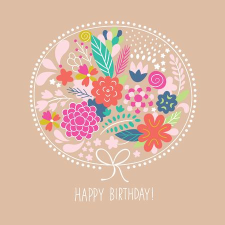 floral illustration, greeting card