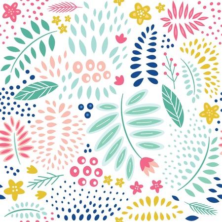 patrones de flores: Abstract seamless floral