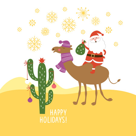 greeting Christmas  card Vector