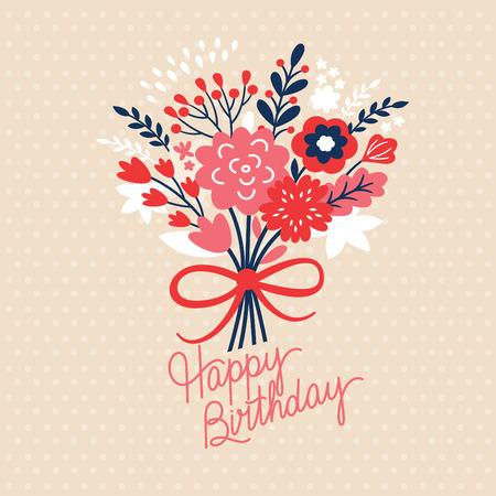 Birthday card Vectores