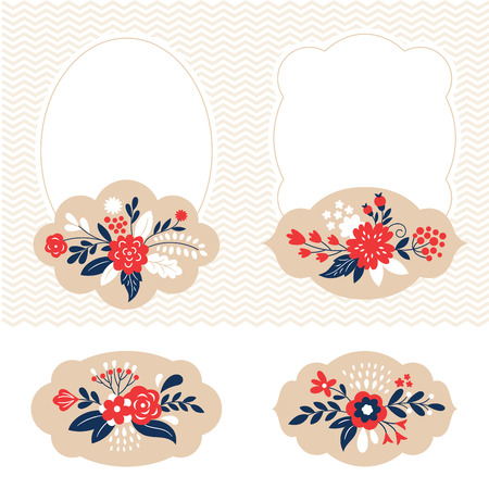womanlike: holiday vector collection, cute frames