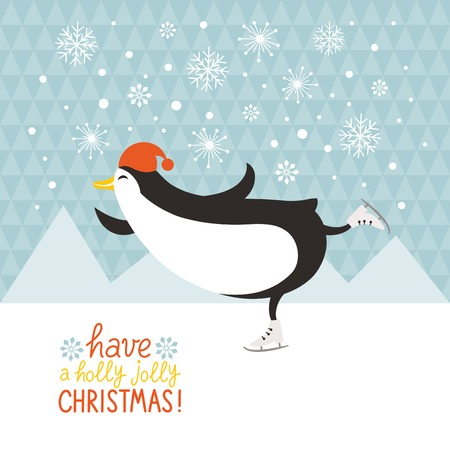 christmas penguins: pat�n ping�ino