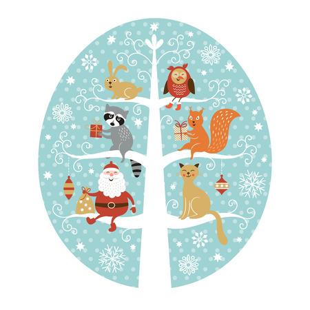 Carte de voeux de Noël Banque d'images - 31729938