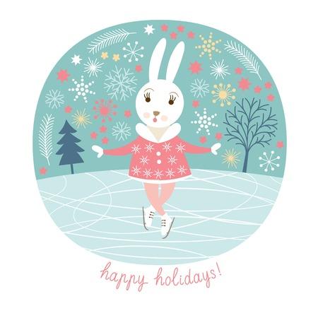 cool girl: Cute rabbit skates