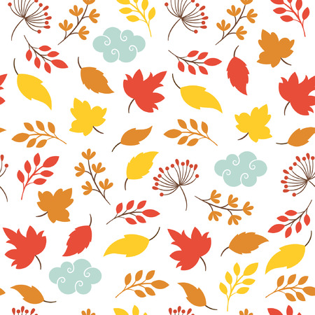 autumn leaves, seamless background Illustration