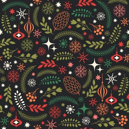 seamless Christmas background Çizim