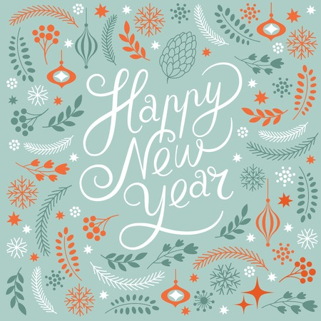 happy new year text: Happy New Years lettering