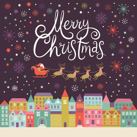 navidad elegante: Tarjeta de la Feliz Navidad