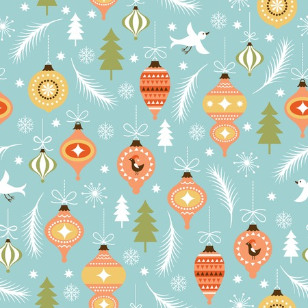 seamless Christmas and New Year\ Vector