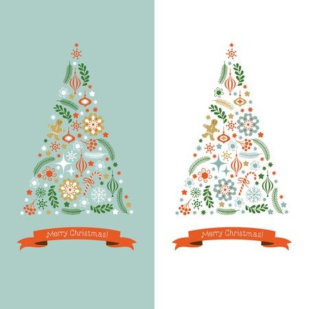 vacanza: Albero di Natale  Vettoriali