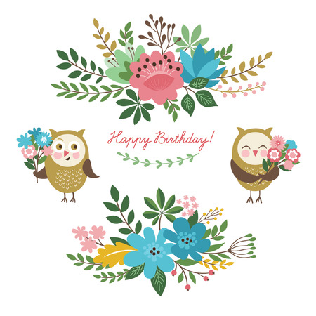 floral elements: floral design elements