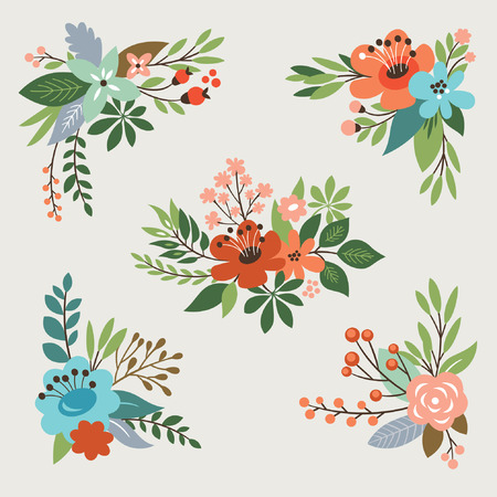 floral vector collection Illustration