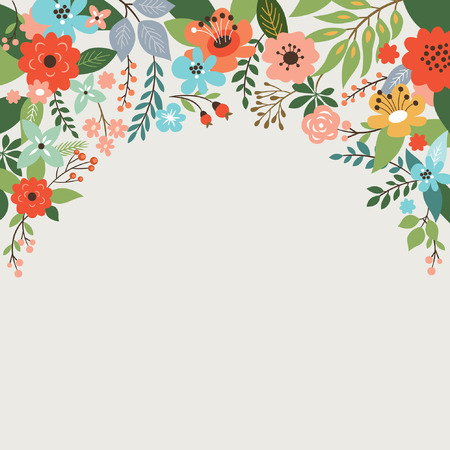 floral design, place for text  イラスト・ベクター素材