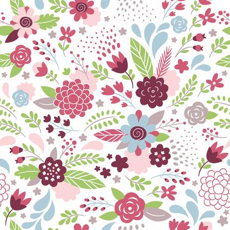 floral seamless pattern Illusztráció