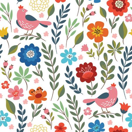 꽃 원활한 패턴 일러스트