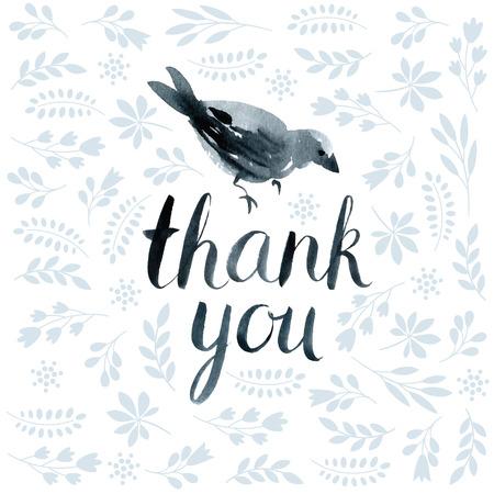 te negro: tarjeta de agradecimiento Vectores