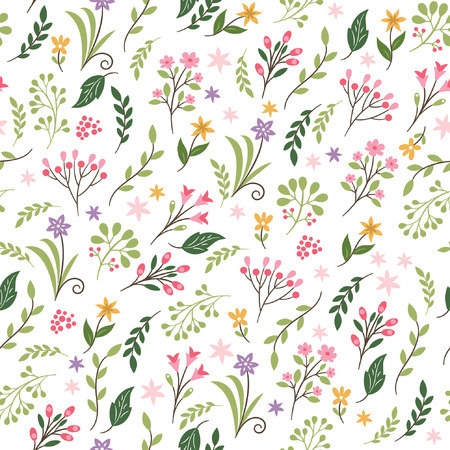 floral seamless pattern Vettoriali