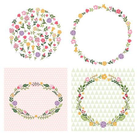 floral frames, place for text