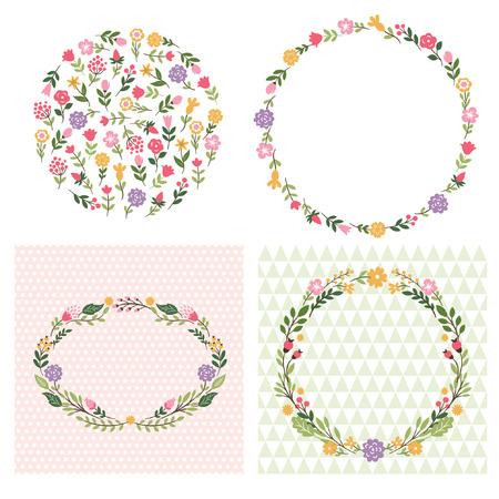 marcos redondos: cuadros de flores, el lugar de texto