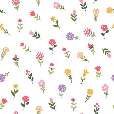 floral seamless pattern 일러스트