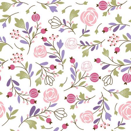floral seamless pattern Stock Illustratie