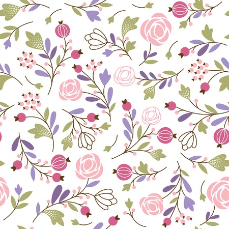 floral seamless pattern Ilustrace