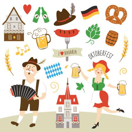 bandera de alemania: Alemania elementos de la colección ilustración