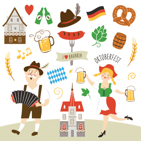 beer party: Germany elements collection illustration