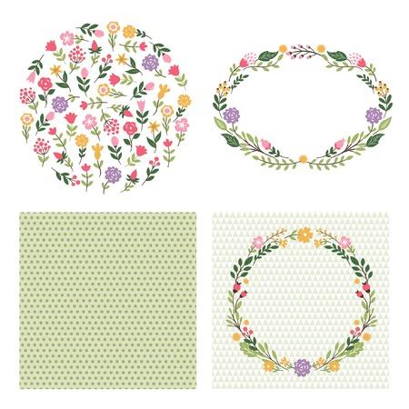 Twigs: set graphic elements ,floral frames, place for text