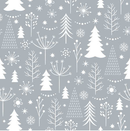 seamless winter pattern Stock Illustratie