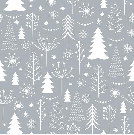 seamless winter pattern Illustration