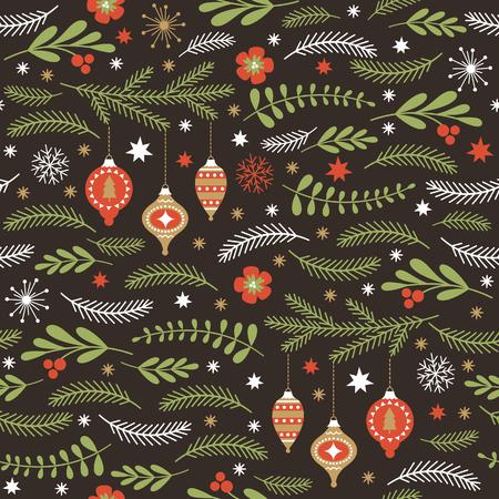 seamless winter pattern Vettoriali