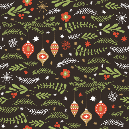 seamless winter pattern Stock Illustratie