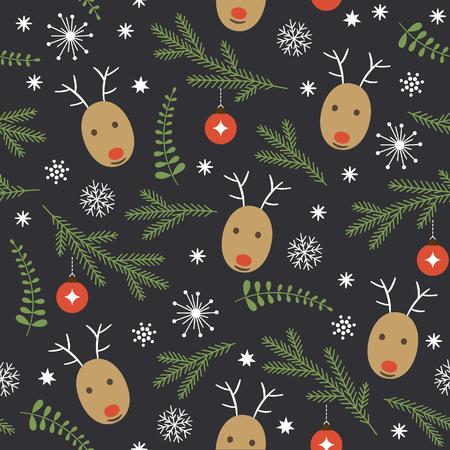 seamless Christmas pattern 向量圖像